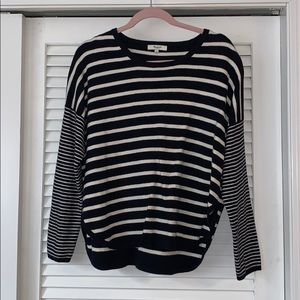 Madewell Striped Pullover Sweater | Large
